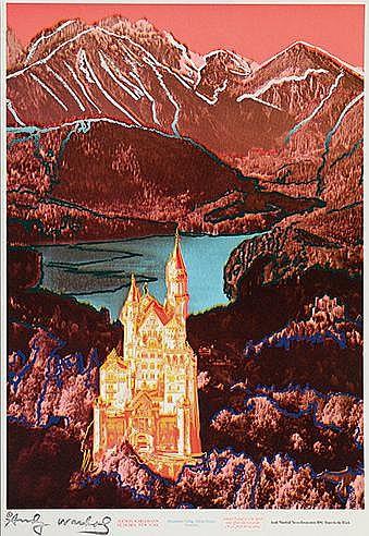 ANDY WARHOL (1928-1987) NEUSCHWANSTEIN, 1987 Offset et sérigraphie en