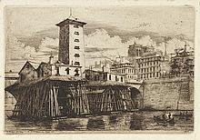 CHARLES MERYON (1821-1868) LA POMPE NOTRE DAME, 1852 (Delteil, 31; Sch