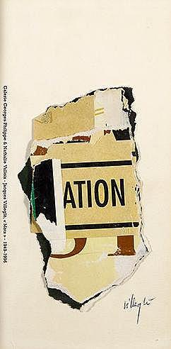 JACQUES VILLEGLE (NE EN 1926) MOTS, 1999 Affiches lacérées sur papier