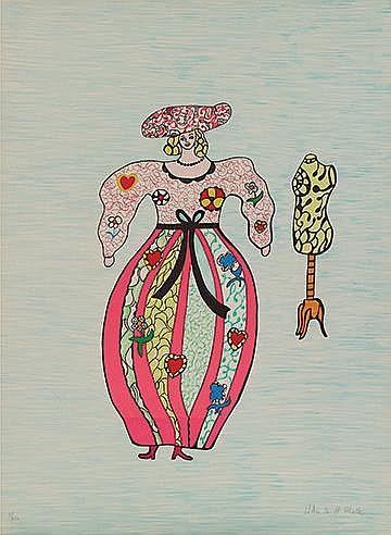 NIKI DE SAINT PHALLE (1930-2002) LA COUTURIERE, 1993 Planche extraite