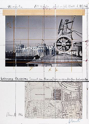 CHRISTO (NE EN 1935) WRAPPED REICHSTAG, PROJECT FOR BERLIN, 1992 Offse