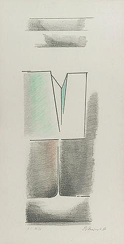 PAUL MANSOUROFF (1896-1983) SANS TITRE Lithographie en couleurs Signée