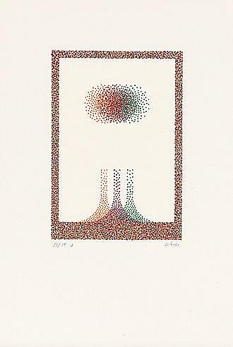 JULIO LEPARC (NE EN 1928) SANS TITRE Sérigraphie en couleurs sur vélin