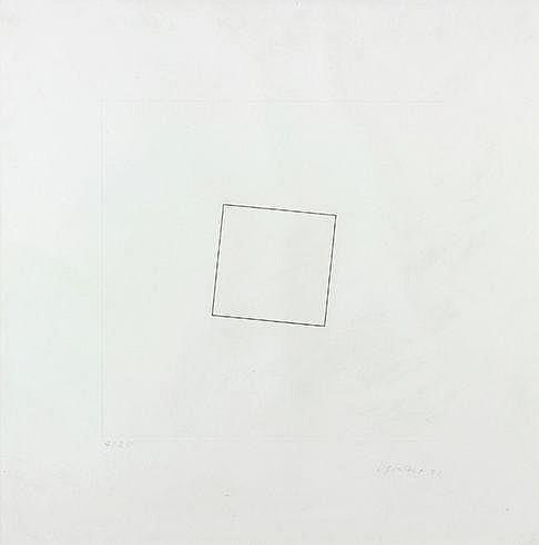 FRANCOIS MORELLET (1926-2016) CARRE NOIR, 1981 Eau forte en noir sur v