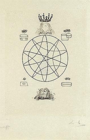 SALVADOR DALI (1904-1989) DIX RECETTES D'IMMORTALITE, 1973 (Michler