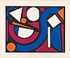 AUGUSTE HERBIN (1882-1960) NUAGE, 1955 Sérigraphie en couleurs sur vél