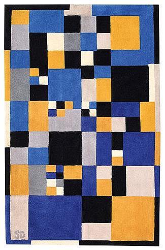 SONIA DELAUNAY (1885-1979) CARRES MAGIQUES, CIRCA 1980 Tapis en laine