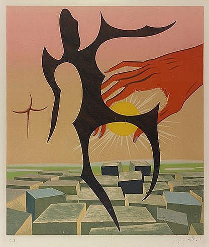 MAN RAY (1890-1976) IL CIMA AL MONDO, 1972 (Anselmino, 35) Lithographi