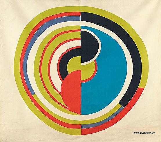 D'APRES SONIA DELAUNAY (1885-1979) SANS TITRE Sérigraphie en couleurs