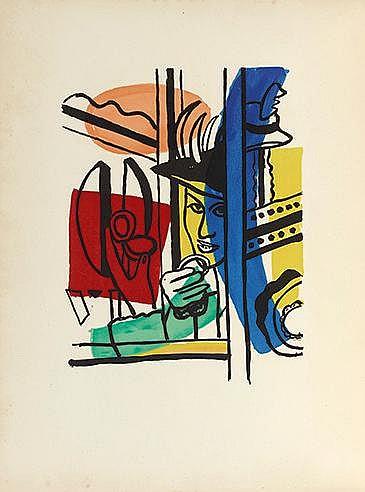 D'APRES FERNAND LEGER (1881-1955) LA VILLE, 1959 Ensemble de huit lith