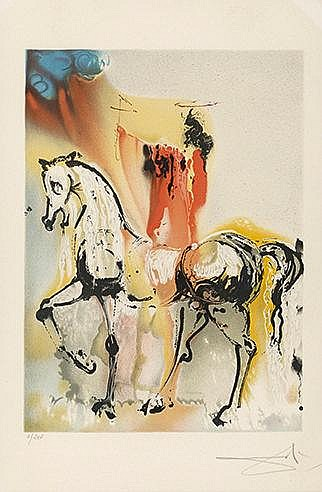 SALVADOR DALI (1904-1989) LE CHEVALIER CHRETIEN, 1970-1972 (Michler