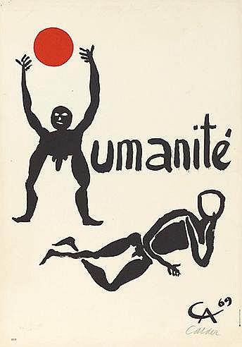 ALEXANDER CALDER (1898-1976) HUMANITE, 1969 Lithographie en couleurs