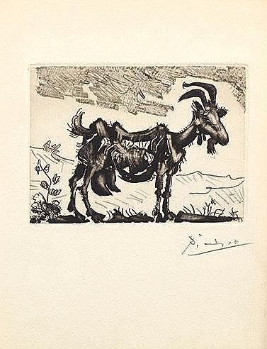 PABLO PICASSO (1881-1973) LA CHEVRE, 1952 (Bloch, 697; Cramer, 64) Pla