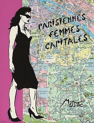 MISS TIC (NE EN 1956) PARISIENNES FEMMES CAPITALES, 2007 Sérigraphie e