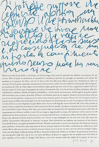 LUCIANO FABRO (1936-2007) SANS TITRE, 2006 Lithographie Signée et numé