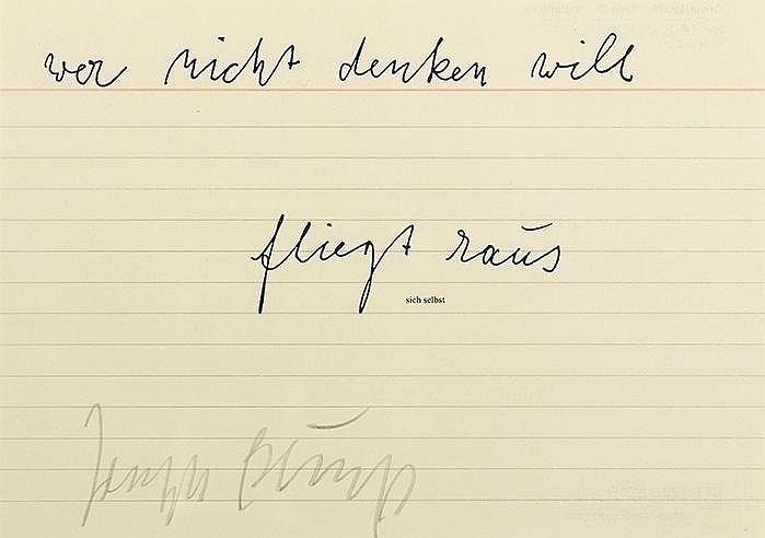 JOSEPH BEUYS (1921-1986) SIGNATUR, 1956 & SICH SELBST, 1977 Ensemble d
