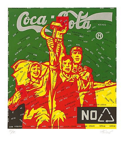 * WANG GUANGYI (NE EN 1957) GREAT CRITICISM-COCA COLA (GREEN), 2006 Li
