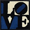 D'APRES ROBERT INDIANA (NE EN 1928) LOVE, 2006 Ensemble de 5 tapis en, Robert Indiana, €700
