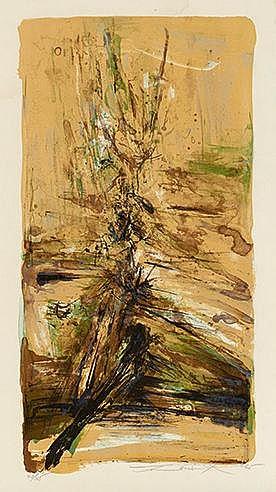 ZAO WOU KI (1921-2013) SANS TITRE, 1965 (Agerup, 158) Lithographie en