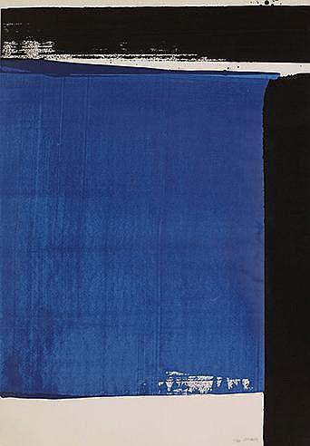 PIERRE SOULAGES (NE EN 1919) SERIGRAPHIE N°16, 1981 (BNF, 108) Sérigra