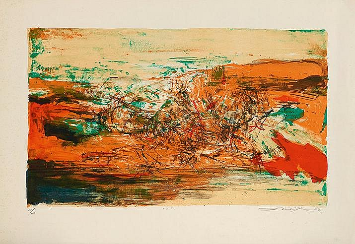 ZAO WOU KI (1921-2013) SANS TITRE, 1973 (Agerup, 236) Lithographie en