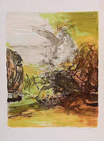 ZAO WOU KI (1921-2013) SANS TITRE, 1989 (Agerup, 337) Lithographie en