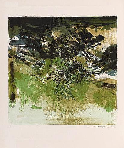 ZAO WOU KI (1921-2013) SANS TITRE, 1975 (Agerup, 267) Lithographie en