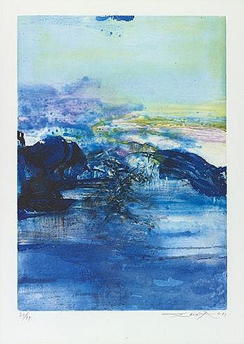 ZAO WOU KI (1921-2013) SANS TITRE, 1981 (Agerup, 317) Eau forte en cou