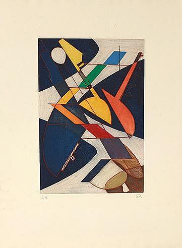 MAN RAY (1890-1976) SYMPHONIE, 1973 (Anselmino, 11) Eau forte et aquat