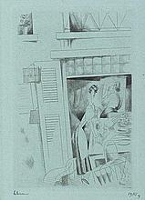 JEAN-EMILE LABOUREUR (1877-1943) LA LINGERE, 1925 (Laboureur, 295) Poi