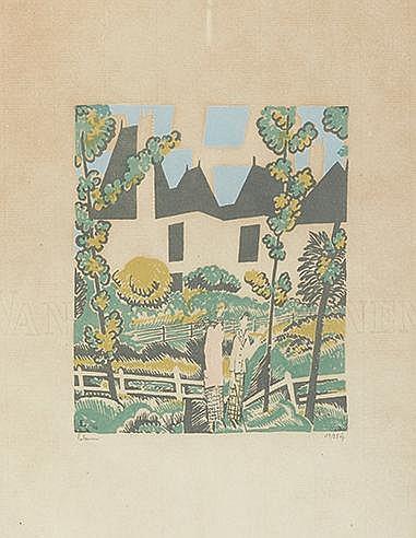 JEAN-EMILE LABOUREUR (1877-1943) LE DEPART POUR LA PROMENADE, 1924 (La
