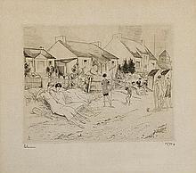 JEAN-EMILE LABOUREUR (1877-1943) LA PETITE PLAGE, 1926 (Laboureur, 327