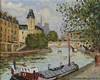 JACQUES BOUYSSOU  (1926-1997)  PONT NEUF,QUAI NOTRE DAME  Huile sur toile, Jacques Bouyssou, €1,000