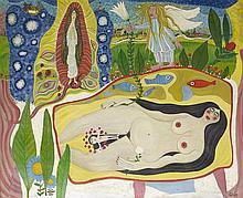 JOSEPH GHIN (NE EN 1926) SANS TITRE Huile sur toile Signée en bas à droit
