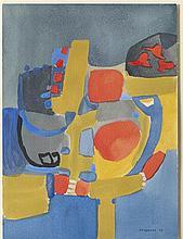 DORA TUYNMAN (1926-1979) SANS TITRE, 1953 Gouache sur papier Signée et dat