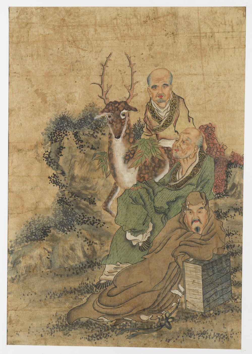 Deux peintures représentant des immortels