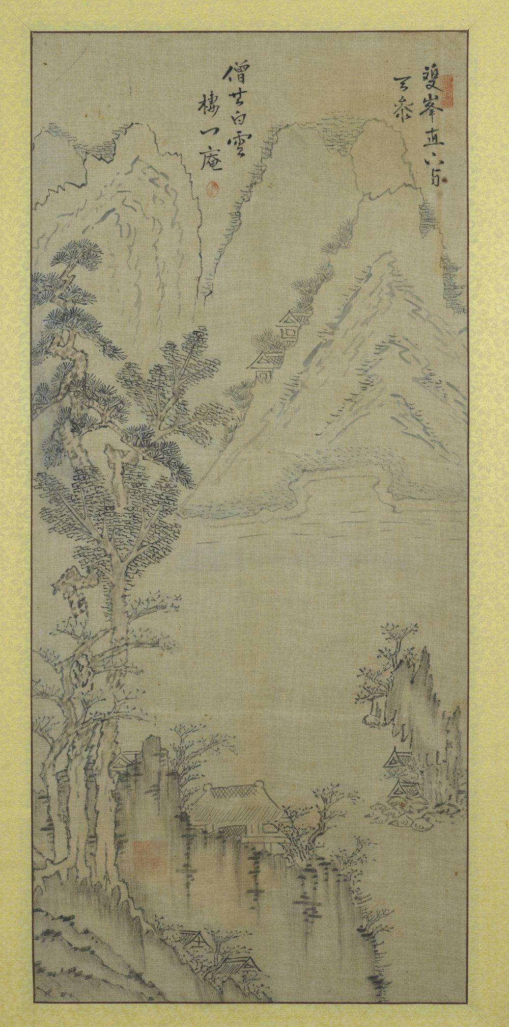 Deux peintures de paysages