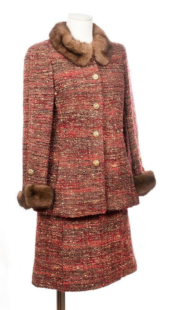 CHANEL HAUTE COUTURE N°53437 CIRCA 1965/1970 Tailleur en tweed de laine