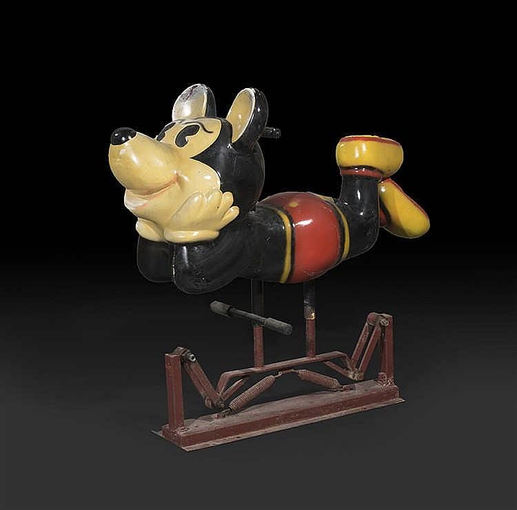 D'après Bernard KINDT Mickey sur le ventre, Sujet de manège
