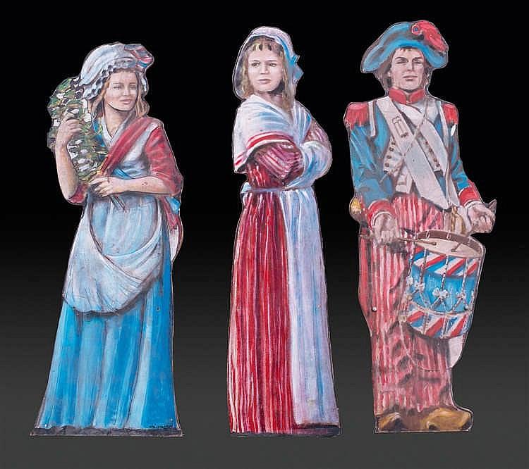 Eric BOLDRON Cinq personnages de la Révolution française, éléments de décors