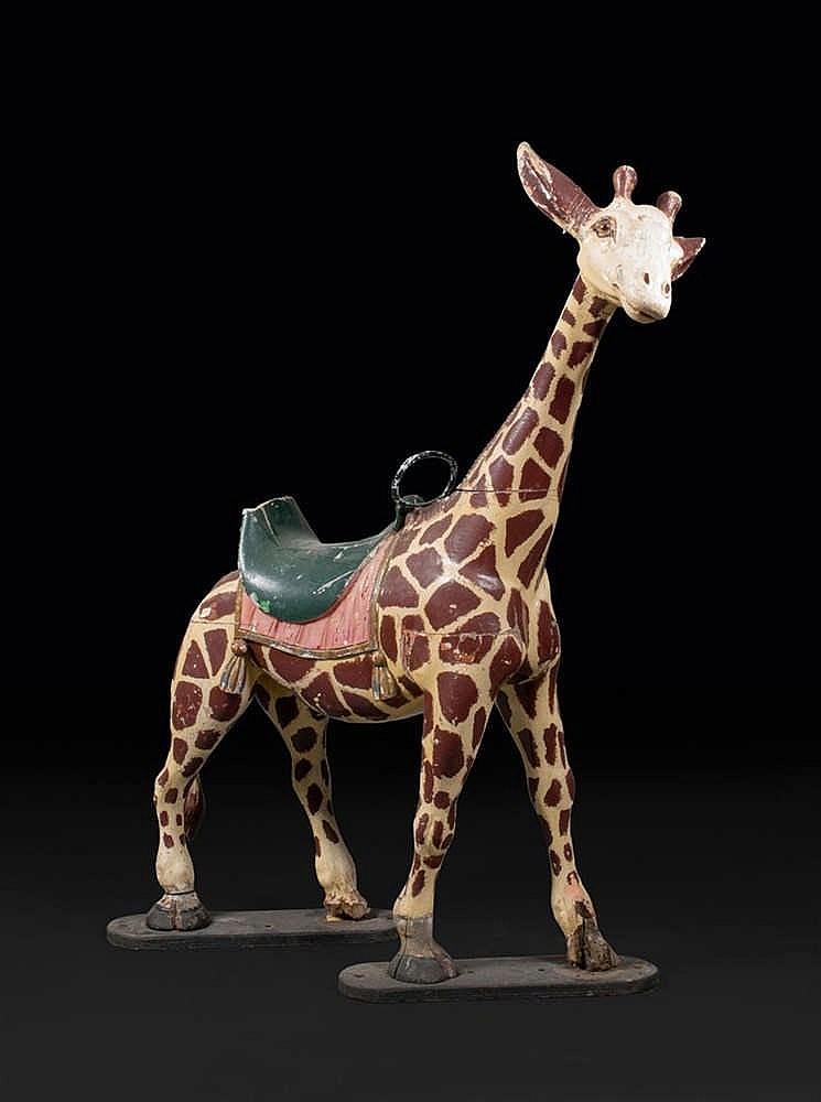 Henri et Jacques Mathieu Girafe, sujet de manège