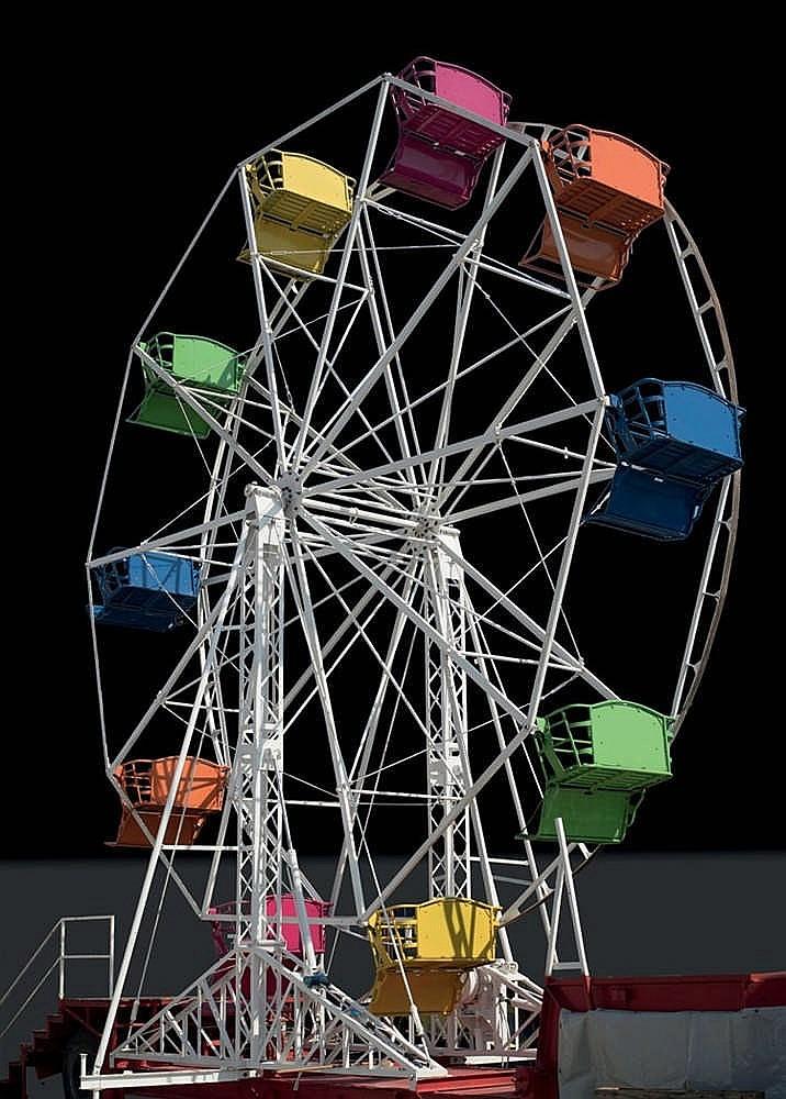 Anonyme Grande roue, 10 balancelles