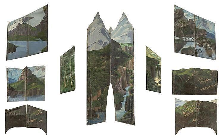 Anonyme Paysages de montagnes et de lacs,