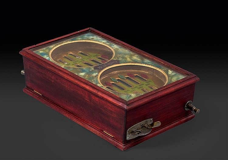 Anonyme « La grille d'or », double loterie métallique de table