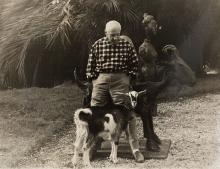 Edward QUINN (1920-1997) - PICASSO ET SA CHÈVRE, CALIFORNIE