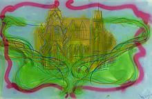 JEAN MESSAGIER (1920-1999) SANS TITRE, CIRCA 1983 Pastel gras et pei