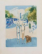 D'APRES KEES VAN DONGEN (1877-1968)   AVENUE DU BOIS, 1928