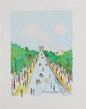 MAURICE UTRILLO (1883-1955)   L'ARC DE TRIOMPHE ET LES CHAMPS ELYSEES, 1955