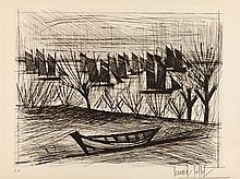 BERNARD BUFFET (1928-1999)   DEPART POUR LA PECHE, 1962