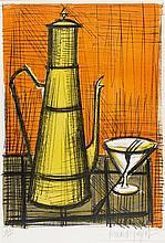 BERNARD BUFFET (1928-1999)   NATURE MORTE A LA CAFETIERE, 1955